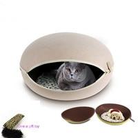 Egg Shaped Luxury Pet Bed For Small Medium Dogs Mats Dog Kennel Cat EVA Felt Cloth Dog House Male Female Pet Sofa Nest 181103 1