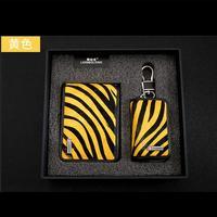 2018 New zebra stripe leather Car Key ring Luxury style Auto key wallet For Maserati Ferrari Key with gift Package