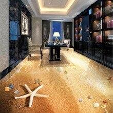 Пользовательские любые размеры 3d обои Красивые Романтические пляжные оболочки 3D гостиная спальня 3D Пол интерьер обои