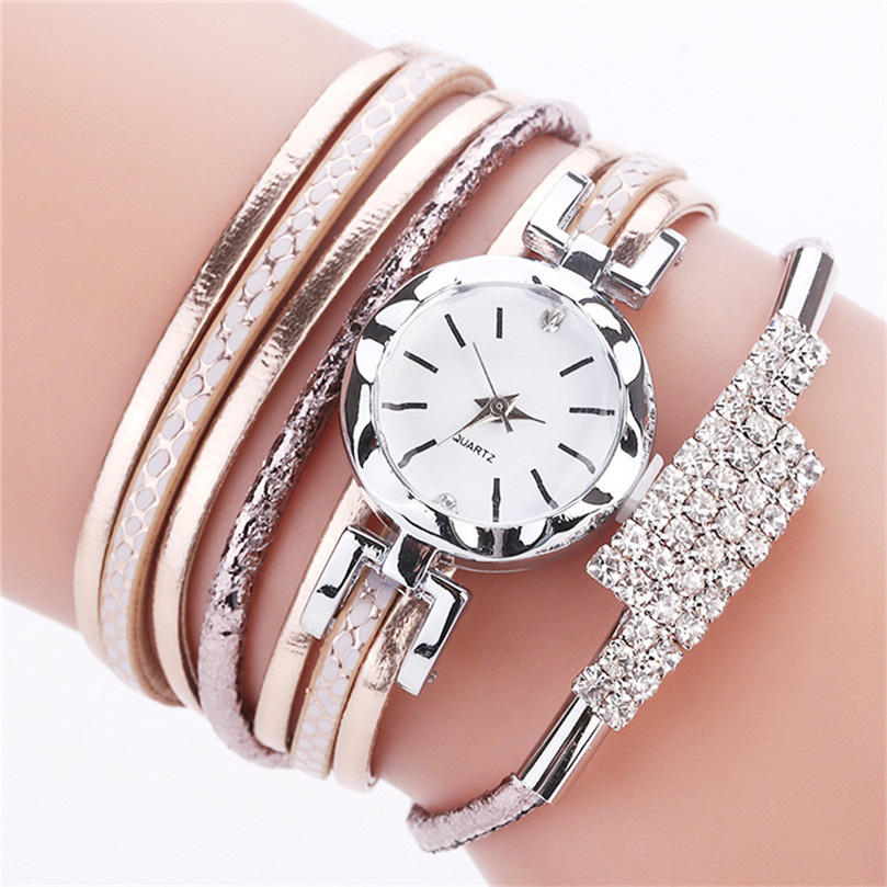 ef47f848974a Comprar Reloj creativo de moda de ocio para mujer CCQ moda Casual de cuarzo  de ala de diamantes de imitación de perlas reloj 4FN Online Baratos