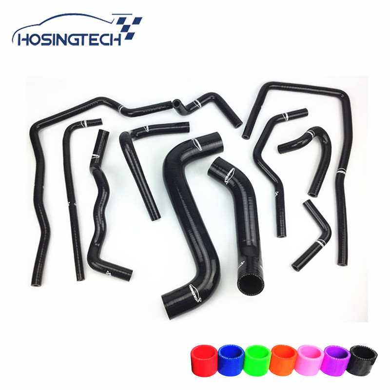 HOSINGTECH-for Subaru Impreza WRX/STi GDB,EJ20 Silicone water Coolant Kits turbo for subaru impreza wrx sti sedan wagon 2003 ej20 2 0l 280hp rhf55 vf37 vg440027 14411 aa541 14411 aa542 turbocharger