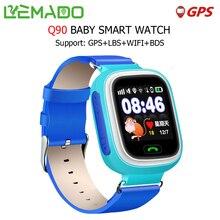 Lemado Q90 Inteligente Relojes para Niños con WIFI GPS LBS SOS llamada Pantalla Táctil Reloj Inteligente para Android IOS Apoyo Ruso Inglés
