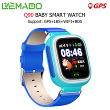 Lemado Q90 Smart Watches for Kids with GPS WIFI LBS SOS Call Touch Screen Smart Watch for Android IOS Support Russian English