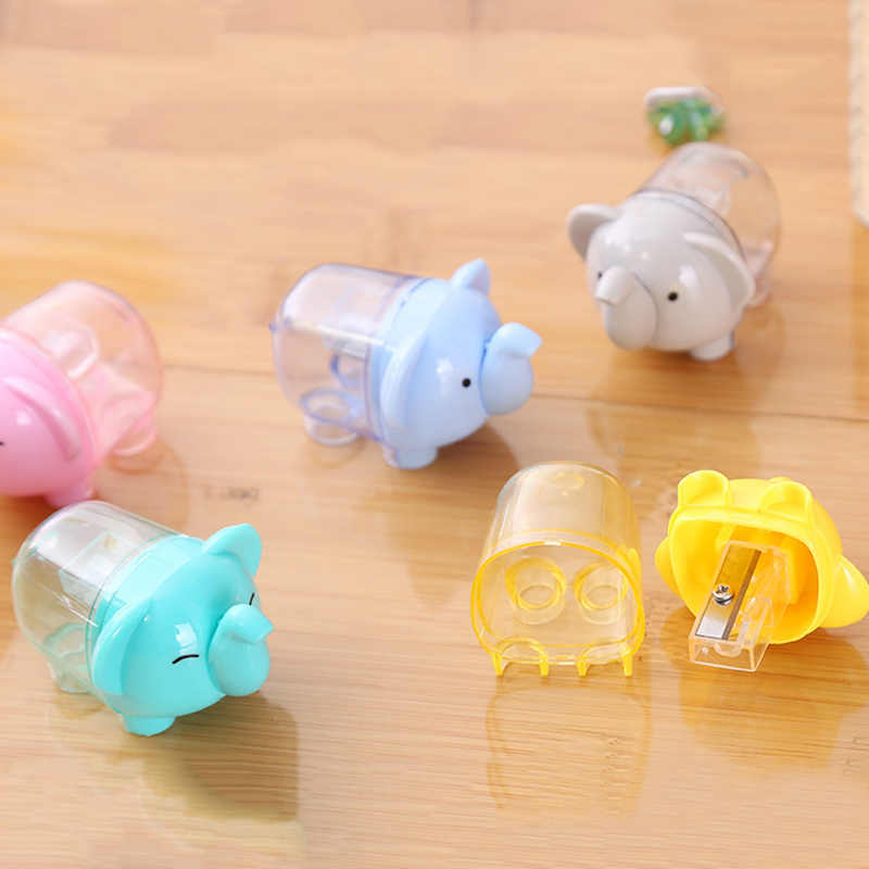 1Pc Cute Single Hole Pencil Sharpener Kawaii Elephant Pencil Sharpener For Kids Girls  Back To School Supplies Korean Stationery