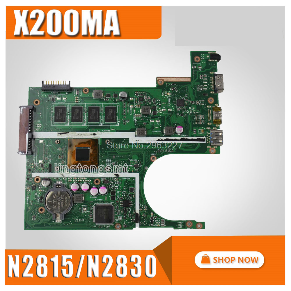 X200MA Motherboard N2815 N2830 REV2 1 2G Memory For ASUS X200M Laptop motherboard X200MA Mainboard X200MA