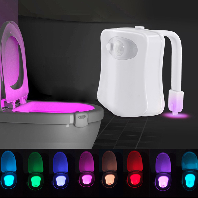 LED Toilet Night light Sensor Body Motion Activated Seat Novelty LED Lamp 8 Color PIR for Bashroom Washroom Lighting led motion sensor light multi color led novelty lighting glass mood lamp light sensor led night lights kids night lamp