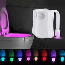 LED Toilet Night light Sensor Body Motion Activated Seat Novelty LED Lamp 8 Color PIR for Bashroom Washroom Lighting