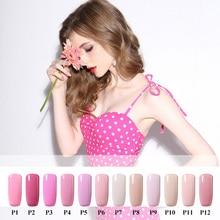 10ml Pink Color Series Vernis Semi Permanent Gel Lak Nail Polish Gelpolish Holographic Acrylic Powder Esmalte Nail Glitter