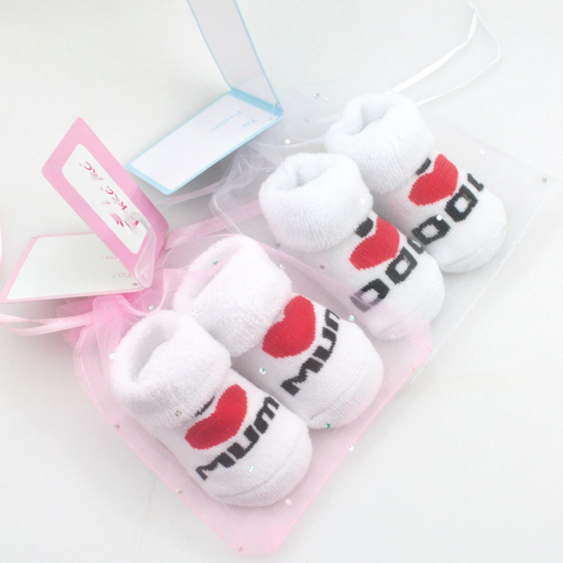 Stacked Toys 100% Cotton Baby Socks Toys Nested Toys Love Dad Love Mum Cartoon Small Kawaii Kids Gifts For Girls Boys