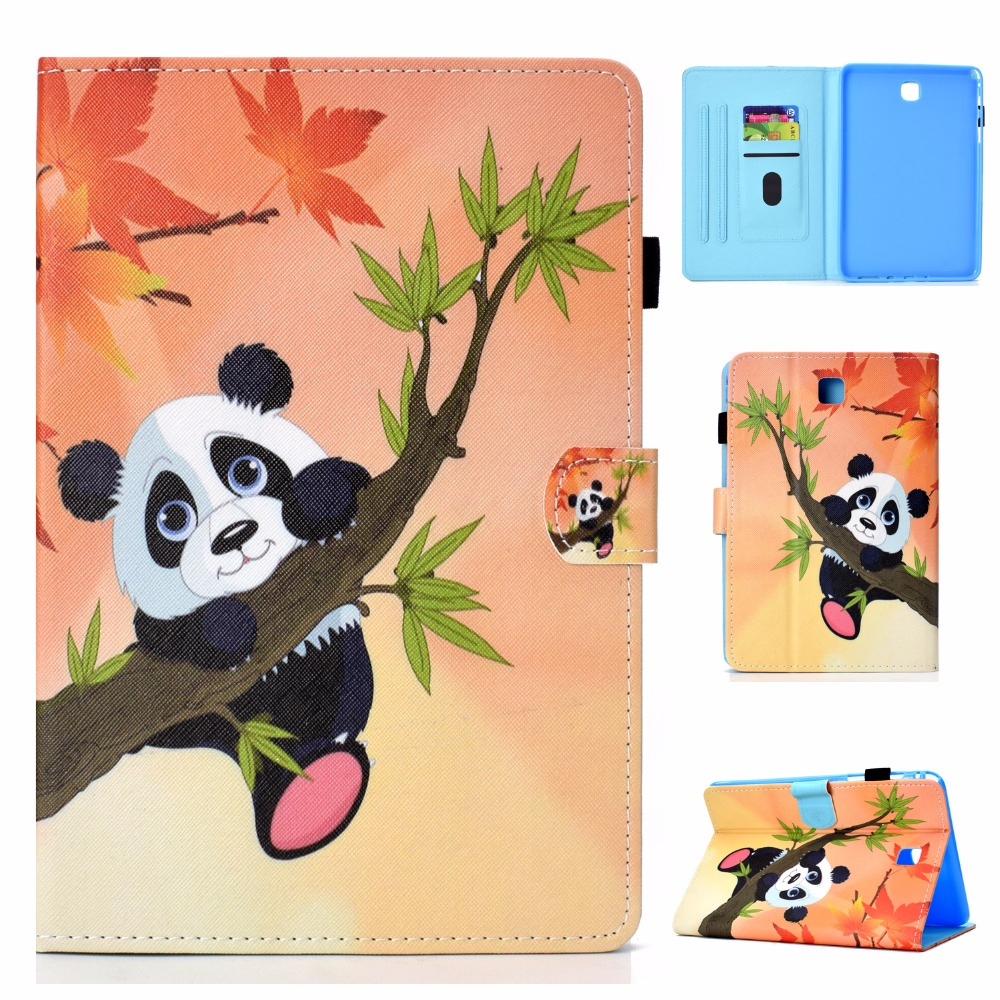 Book Style Case For Samsung Galaxy Tab A 8.0 SM-T350 SM-T355 T350 T355 Tablet Cases Printed Style Flip Stand Cover Funda + Pen