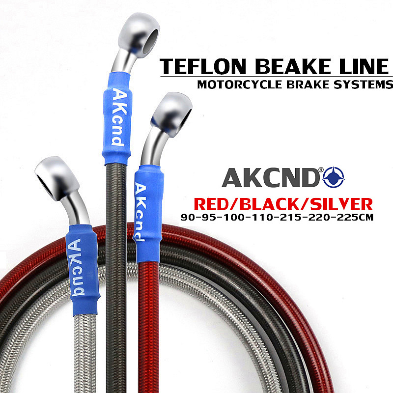 Motorcycle Brake Oil Hose Braided Dteel Hydraulic Reinforce Brake Line Clutch Oil Hose Stainless Steel Braided pipeline 90 230cm-in Levers, Ropes & Cables from Automobiles & Motorcycles