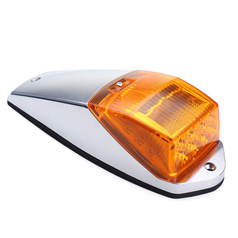 12V 17 LED Universal Cab Truck Trailer Roof Top Marker Running Warning Light Sign Lights For Kenworth Yellow Amber toyl taxi cab roof light with magnetic base sign dc 12v yellow light