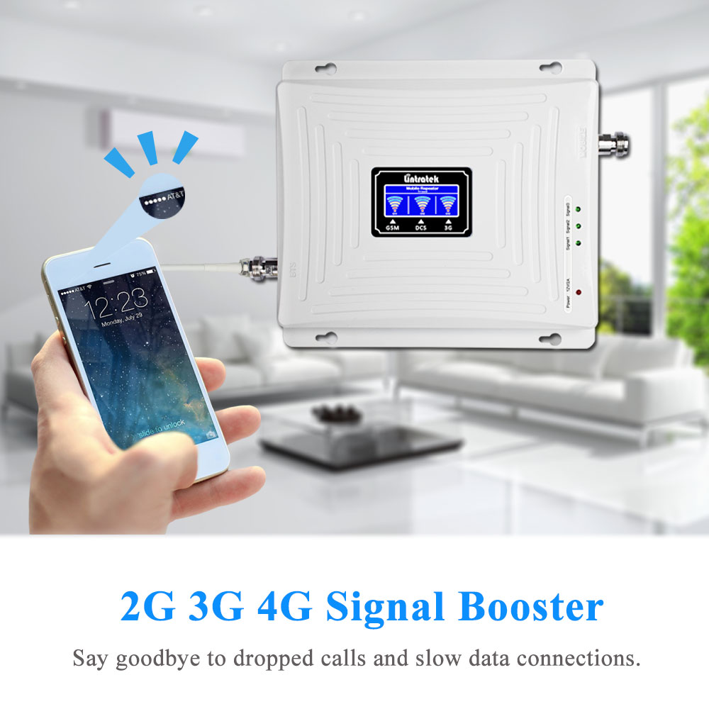 Image 3 - Lintratek LCD Display 2G 3G 4G Tri Band Signal Repeater GSM 900 1800 3G UMTS 2100 4G LTE 1800 Cell Phone Signal Booster Amplifi.-in Signal Boosters from Cellphones & Telecommunications