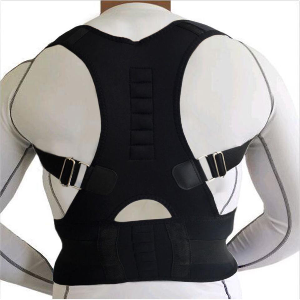 AOFEITE Neopreno Hombro Correa de Soporte Corrector de Postura Espalda Lumbar Terapia Magnética Ajustable para Los Hombres y Las Mujeres Del Envío Gratis