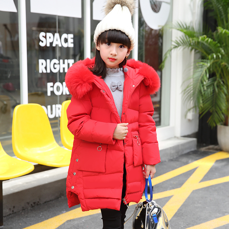 Princess Girls Winter Coat Long Duck Down Thick Faux Fur Hooded Winter Jacket For Kids Girls Age 6 8 10 12 14 years old polaris phd 2077i