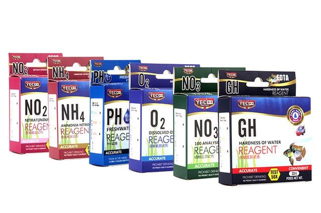 water test kit no2 nitrite no3 nitrate gh nh4 ph o2 aquarium water