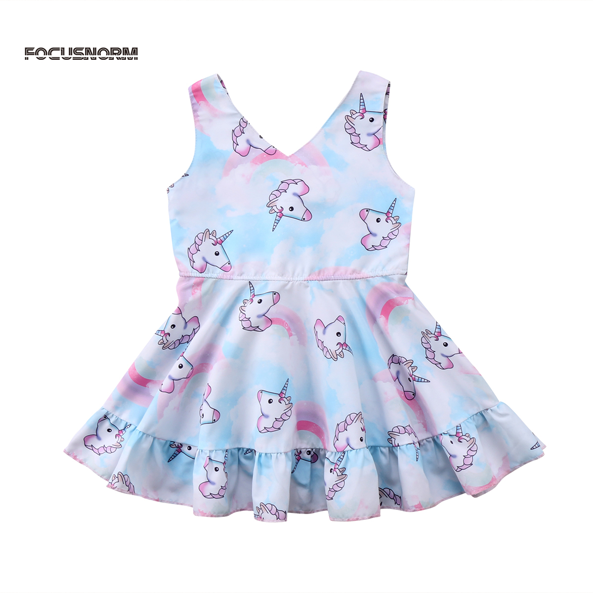 adorable unicorn dresses 2018 new toddler kids baby girls