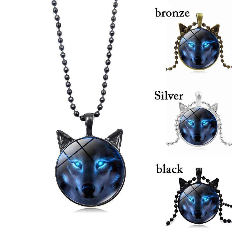 2018 Mới Nóng Bắc Âu Wiccan Wolf Necklace Wiccan Wolf Mặt Dây Chuyền Jewelry Glass Ảnh Cabochon Vòng Cổ cho phụ nữ nam giới thả vận chuyển