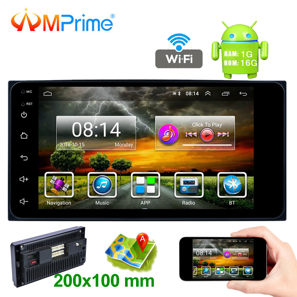 AMPrime Android 2 Din Car Radio 7 Capacitance Touch Screen MP5 Player GPS Autoradio  Bluetooth USB 2G + 16GB With Rear CameraAMPrime Android 2 Din Car Radio 7 Capacitance Touch Screen MP5 Player GPS Autoradio  Bluetooth USB 2G + 16GB With Rear Camera