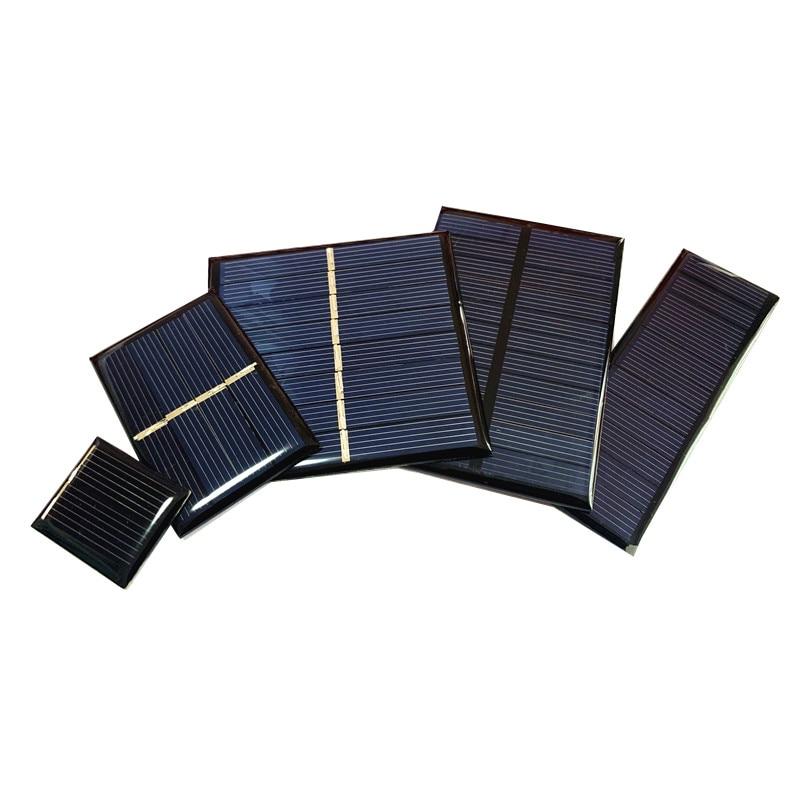En gros Min panneau solaire 0.5V 1V 2V 3V 4V 5V 80MA 100MA 120MA 130MA 160MA cellule solaire pour bricolage chargeur solaire