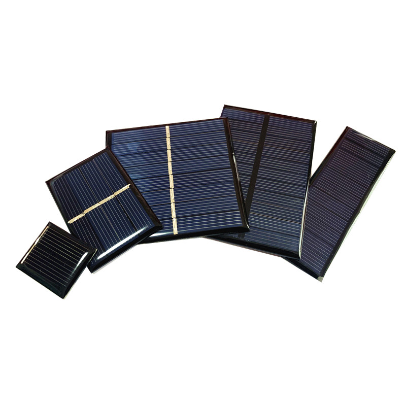 Whole sale Min Solar panel 0.5V 1V 2V 3V 4V 5V 80MA 100MA 120MA 130MA 160MA Solar Cell For diy Solar charger image