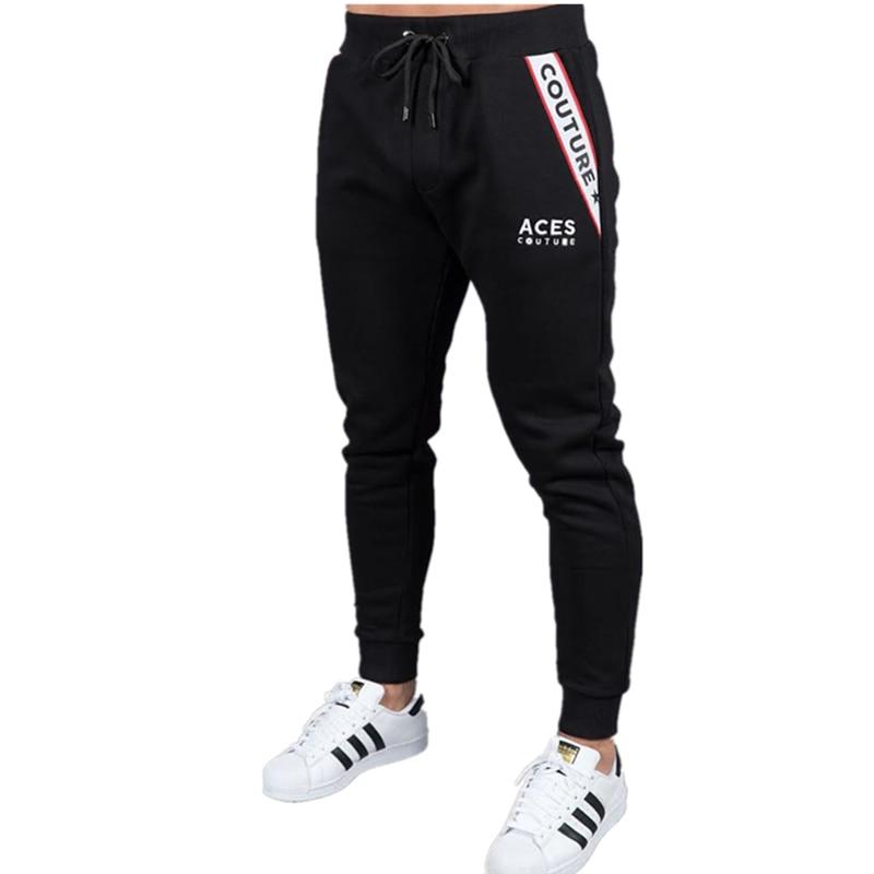 Gyms Harem Pants Men Side Graphics Print Retro Pants