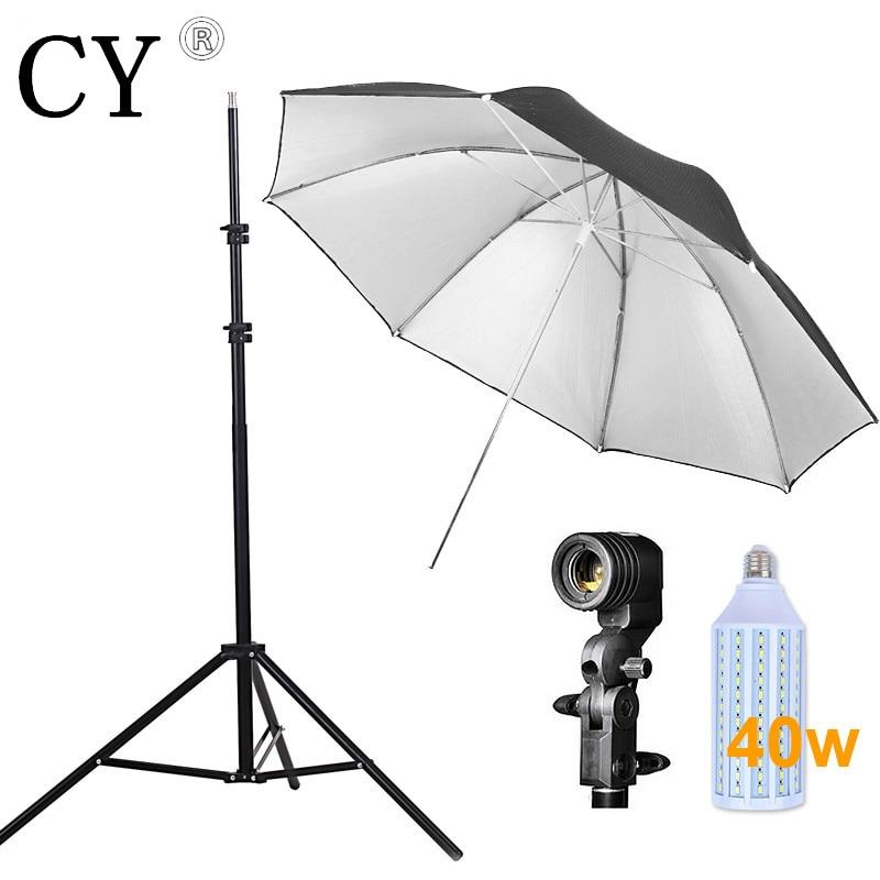 Inno Photo Studio Lighting Kit 40w LED Light Light Stand Umbrella US P Bulb Socket Studio Continuous Lighting Kits