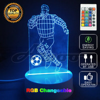 3D Visual Bulb Optical Illusion Colorful LED Fashion Creative Play Football 3D Party Decor Lamp Small
