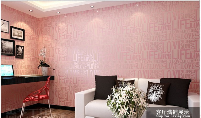 Stylish Wallpaper For Home Non Woven Wallpaper Stylish English Alphabets Wall To Wall Living