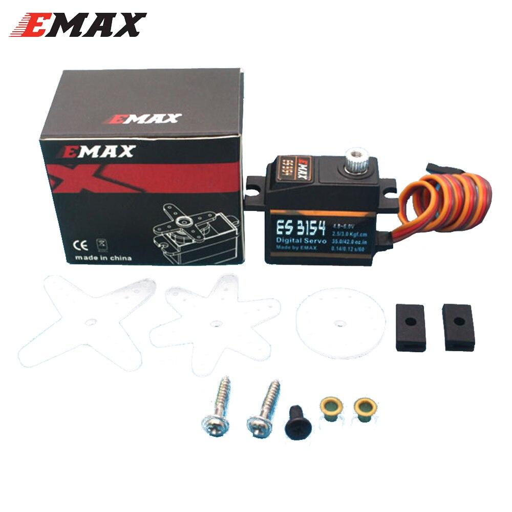 100% original Emax ES3154 Digital Servo de Metal con engranajes y piezas (4,8-6,0 V) para RC helicóptero avión Coche