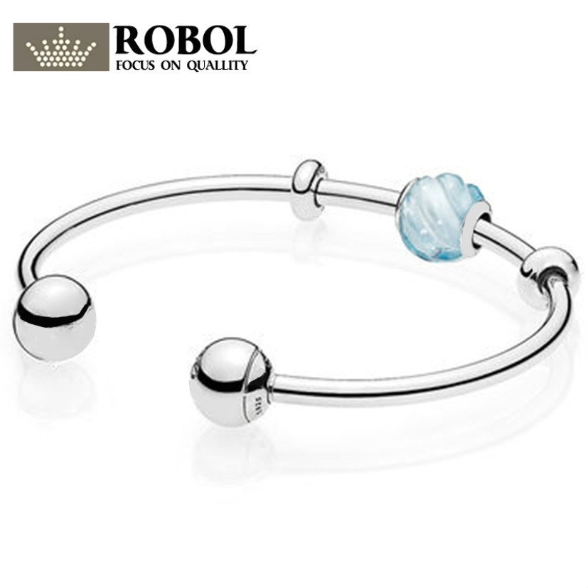 Original 100% 925 Silver Charm 1:1 Version Reflexions Collection Charm Beads Copy Jewelry For Women 1:1 With Logo Bracelet Original 100% 925 Silver Charm 1:1 Version Reflexions Collection Charm Beads Copy Jewelry For Women 1:1 With Logo Bracelet