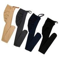 Высокое качество Леггинсы для беременных 320D бархат регулируемый высокие эластичные леггинсы для женщин беременных одежда брюки девоч