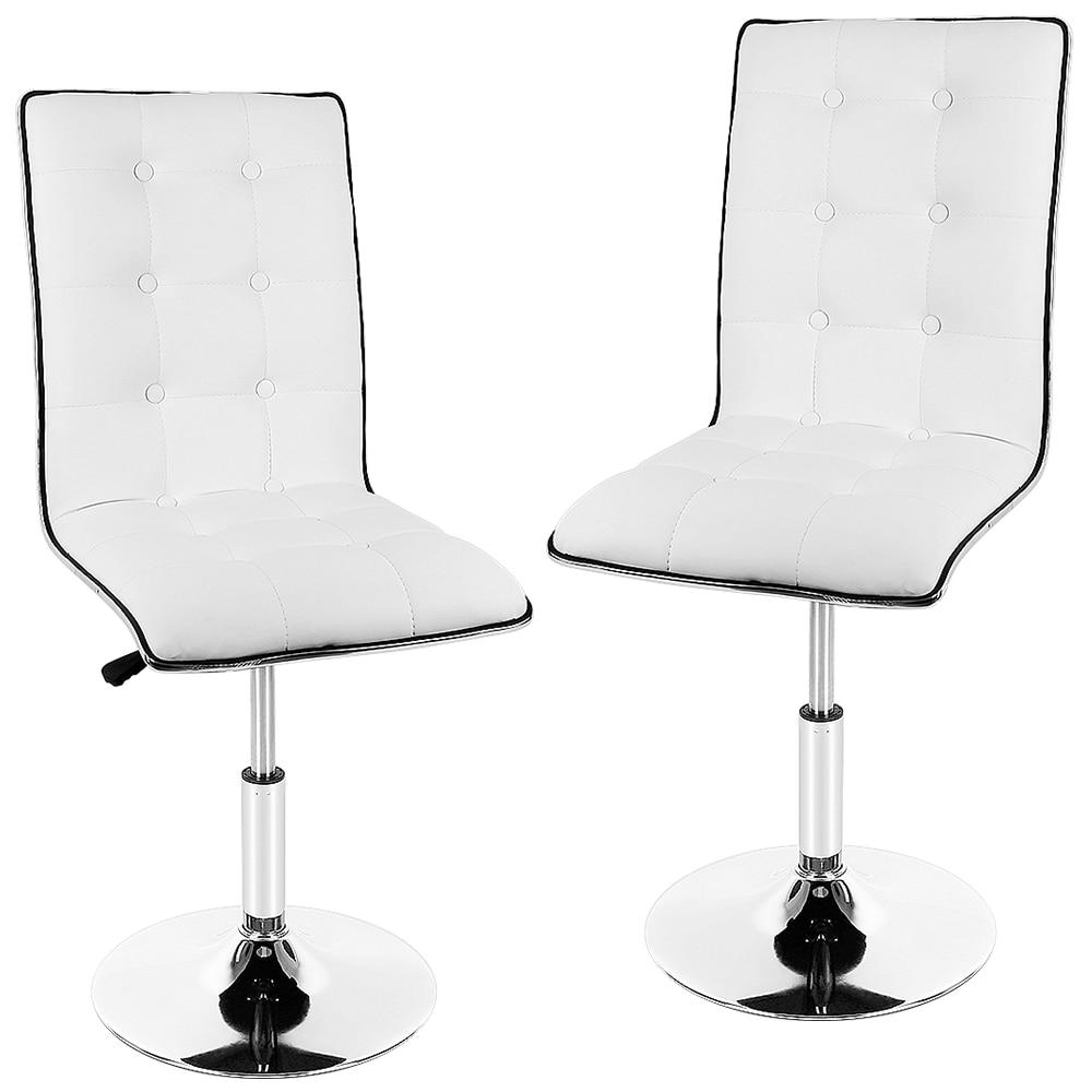 2pcs/pair PU Leather Bar Chair Modern Swivel Barstool Adjustable High Stool Lifting Bar Chair Tabouret De Bar Home Funiture HWC