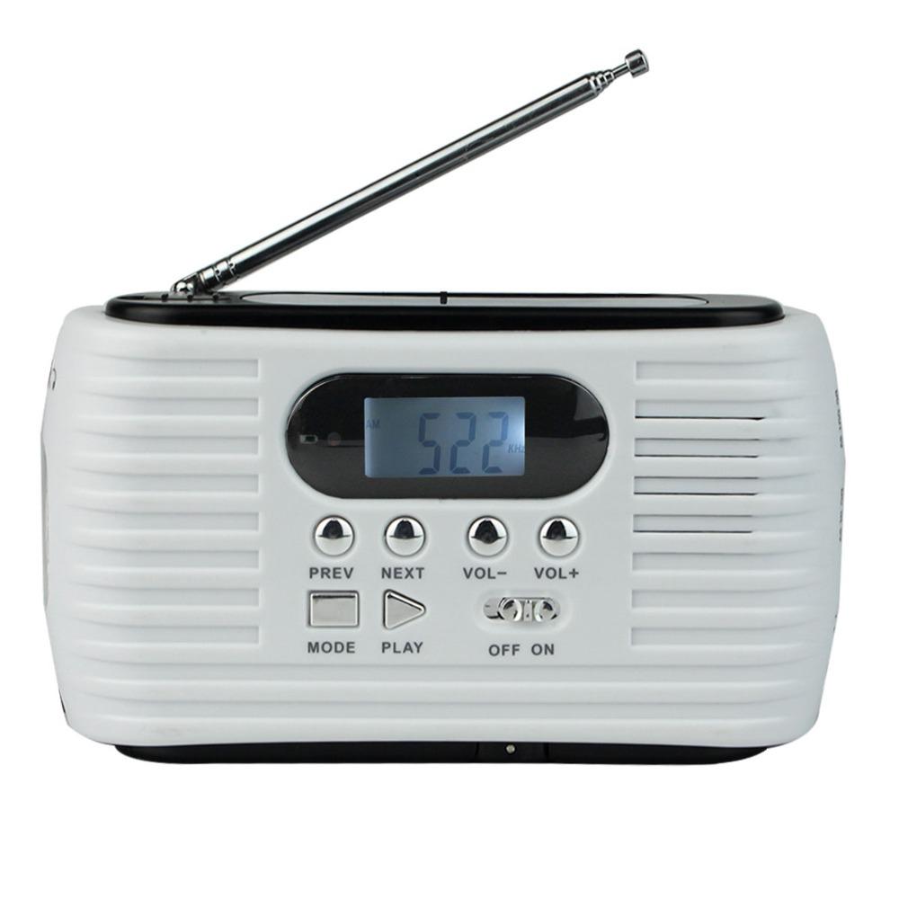 Prix pour Dynamo Solaire Radio FM/SUIS D'urgence Radio Multibande avec Téléphone portable Chargeur et Lampe de Poche et MP3 Lecteur Y4179B Fshow