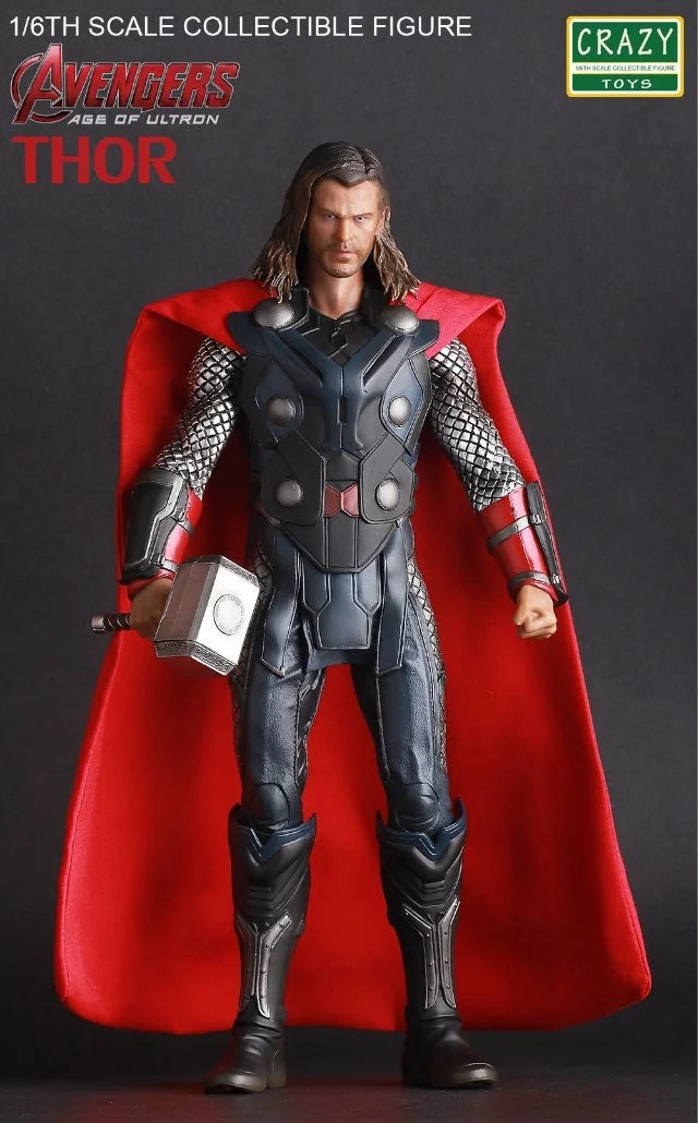 Boxed Crazy Toys Thor Super Heroes The Age of Ultron 12'' Doll Figurine PVC Action Figure Resin Collection Model Toy Gifts GC054