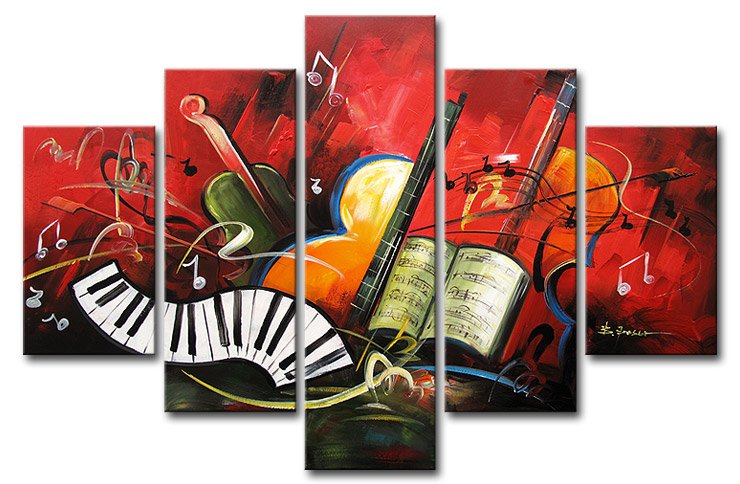 wall pictures for living room artwork music picture high q wall decor landscape oil painting - Music Wall Decor