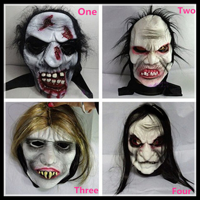 Free Shipping Halloween Party Long Hair Devil Full Head