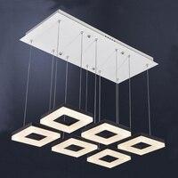 54 wát Contemporary LED vuông Pendant Lamp, thiết kế ý led treo ánh sáng đèn, hiện đại trong nhà Home Chiếu Sáng treo đèn