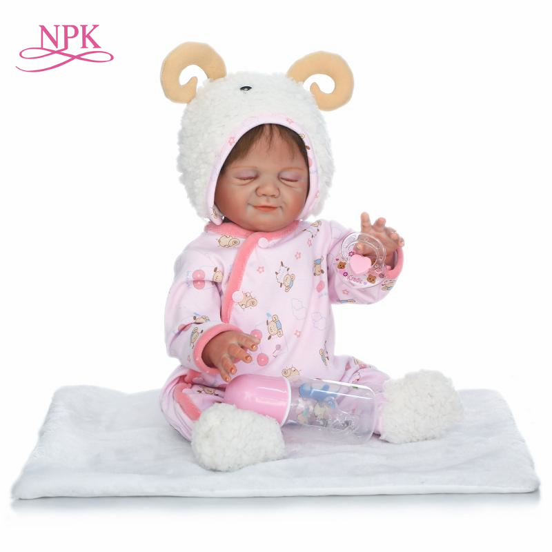 NPK 2017 NEW wholesale reborn baby doll full vinyl body with girl gender doll gift for kids on Birthday