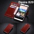 Держатель карты дело чехол для HTC Desire 820 кожа телефон дело ультра тонкий кошелек откидная крышка Для HTC 820 D820