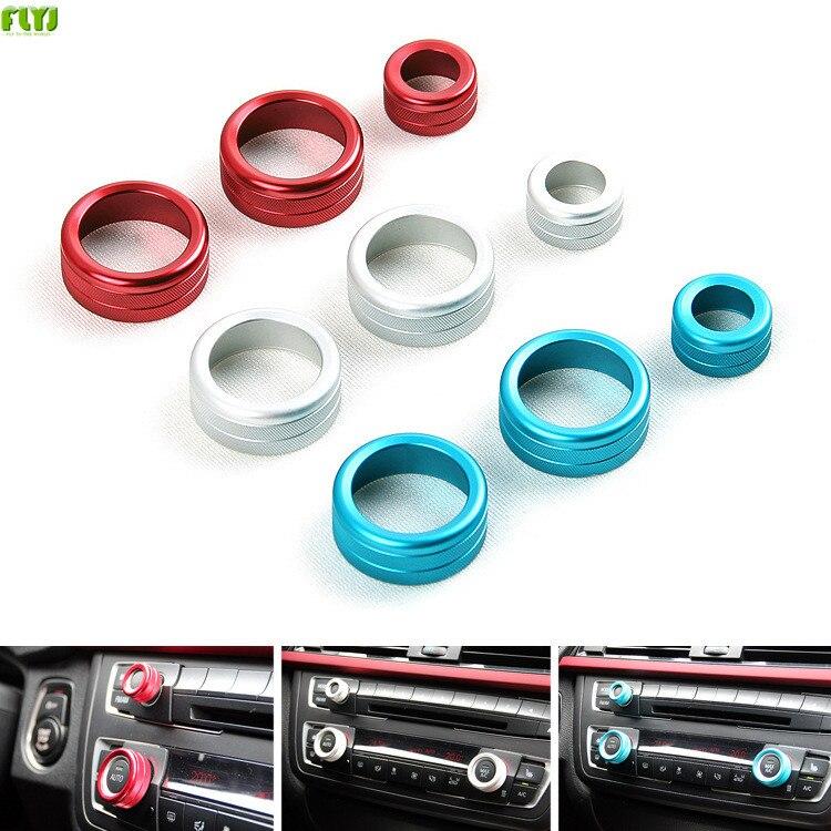 Car stereo button decoration Multimedia Buttons Cover air conditioning for BMW X1 X3 X5 X6 F30 E90 F10 F18 F11 F16 F25 E60 E61