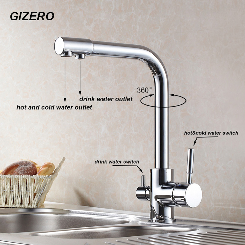 New Arrival Bathroom Drinking Water Faucet High Quality Chrome Polished Flexible Kitchen Purifier Faucet Filter Taps