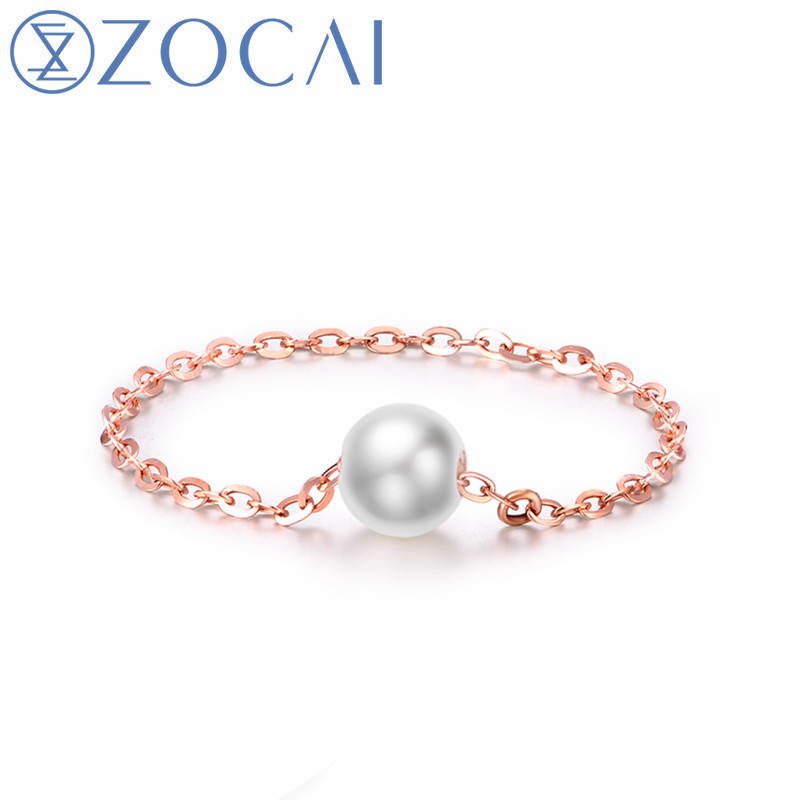 ZOCAI Brand Design Gift Ring 18K Rose/ Yellow Gold ( AU750) DHL Free Shipping
