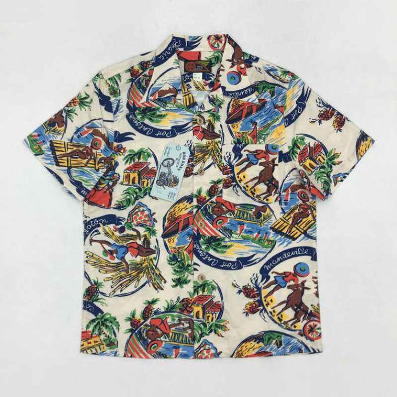 3830c31c851630 Vintage 50s Aboriginal Aloha Hawaii Shirts For Men Hawaiian Summer Print  Tops
