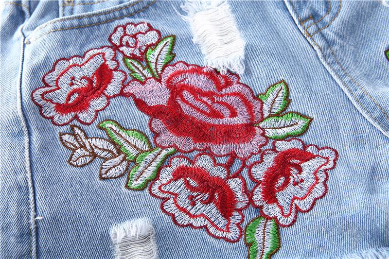 HTB1fe6cQFXXXXaOXVXXq6xXFXXXU - Floral embroidery denim shorts Women PTC 165