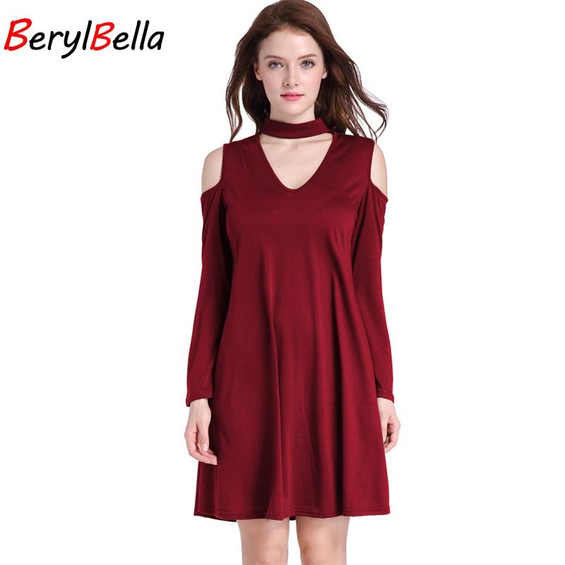 BerylBella Casual V-hals Halter Strapless Vrouwen Jurk 2019 Zomer - Dameskleding