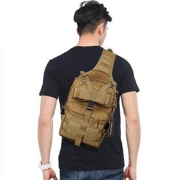 Mochila militar táctico Molle compacto versátil bolso de viajes deporte bolso de hombro de la silla para la caza senderismo ciclismo Tan