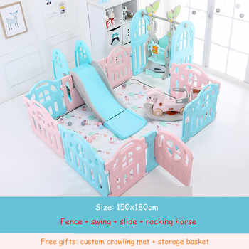 Kids Baby Fence Playground Indoor Family Amusement Park Baby Toddler Fence Safety Playpen for Baby Barriere De Securite Enfant - DISCOUNT ITEM  39% OFF All Category