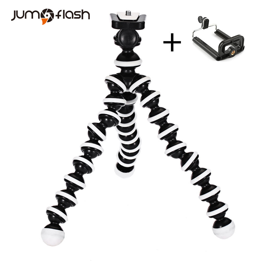 Jumpflash Octopus Mini Tripod Bracket Portable Flexible Smartphone Clip Holder Camera Stent Smartphone Tripods Foldable Desktop(China)