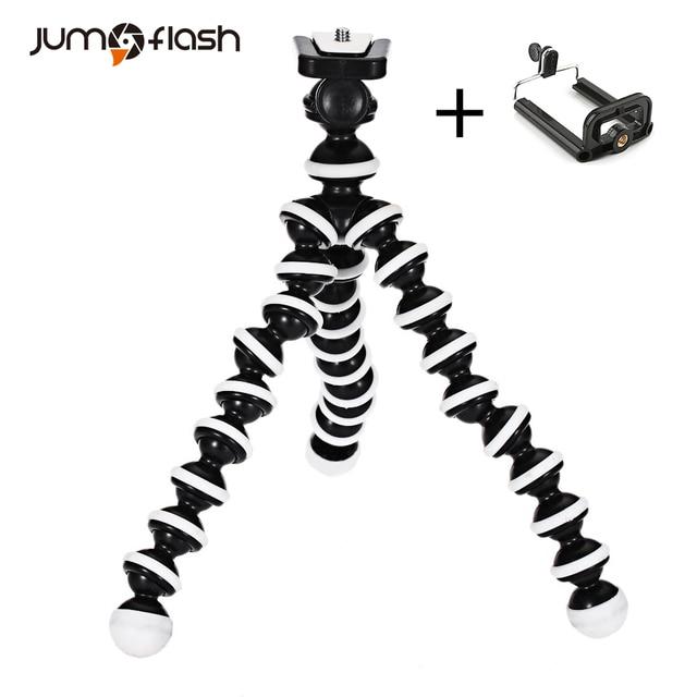 Jumpflash Polvo Tripé Mini Suporte Portátil Smartphone Flexível Tripés de Câmera Titular Clipe Stent Smartphone Dobrável Desktop